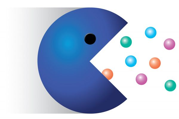Image: Blue Pac Man illustration