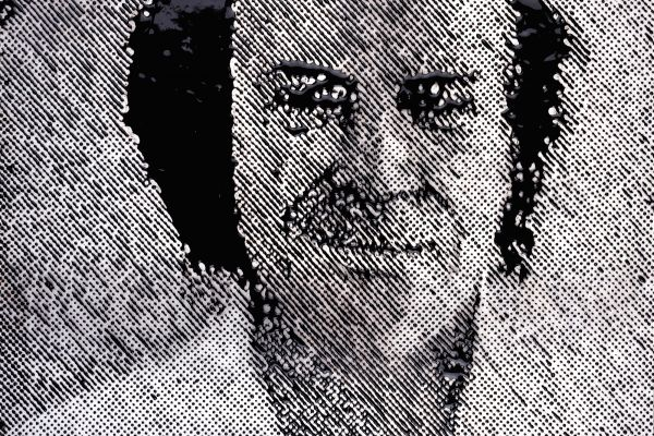 An image of one creative individual (Richard Feynman) created by another (Vik Muniz)