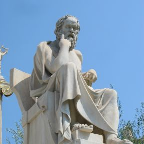 Statue of the ancient Greek philosopher Socrates, Athens, Greece
