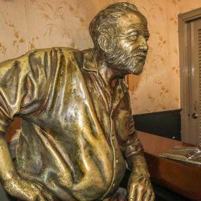 Hemingway statue located in Floridita bar, Cuba       in Habana city