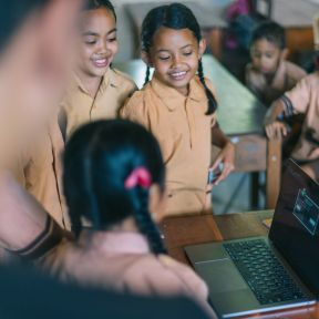 Children Learning Remotely