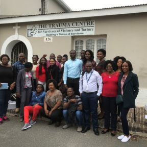 The group of mental health workers outside The Trauma Centre in Cape Town, South Africa in 2019