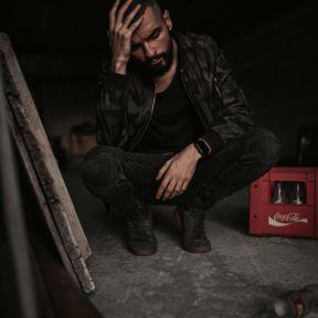 Man suffering from severe headache