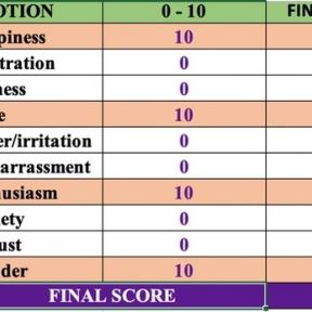 Emotion Diary and scores