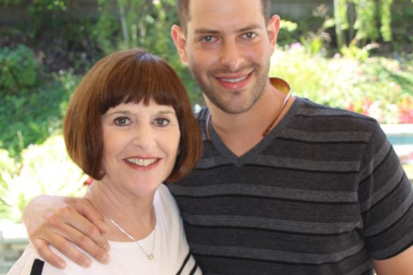 Auntie Marilyn and Adam, the author's son