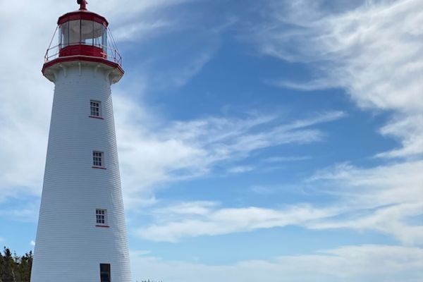 Point Prim Lighthouse, the oldest lighthouse on Prince Edward Island and the only round brick lighthouse in Canada.