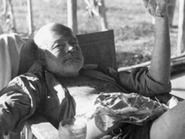 Ernest Hemingway at 55.