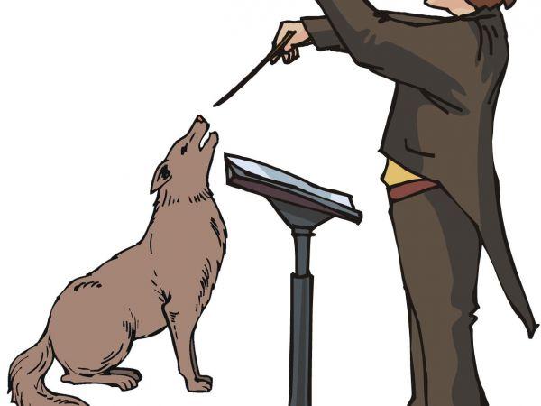 dog canine pet music opera sing