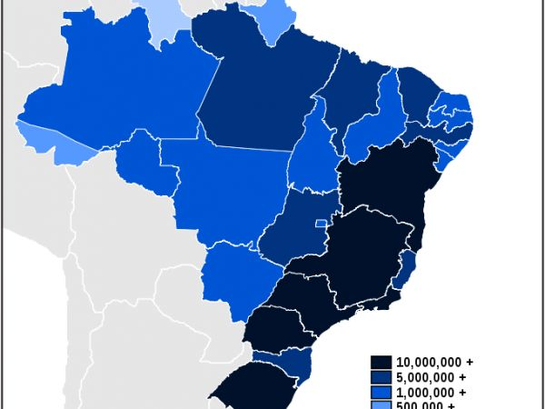 Map of Brazilian States by Population