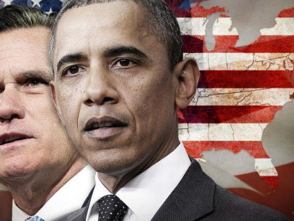 Barak Obama and Mitt Romney