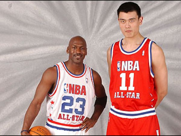 Michael Jordan Yao Ming All Star Team Dream Team United States China