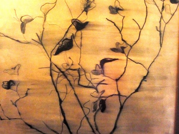 pen and ink tree branch