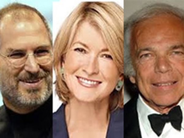 Steve Jobs, Martha Stewart, Ralph Lauren photo