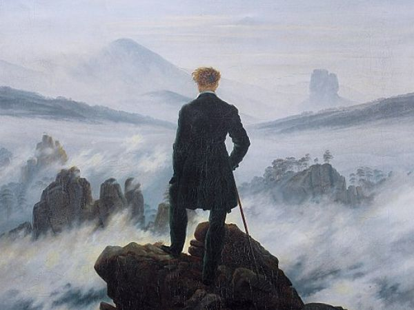 The wanderer above the sea of fog by Caspar David Friedrich
