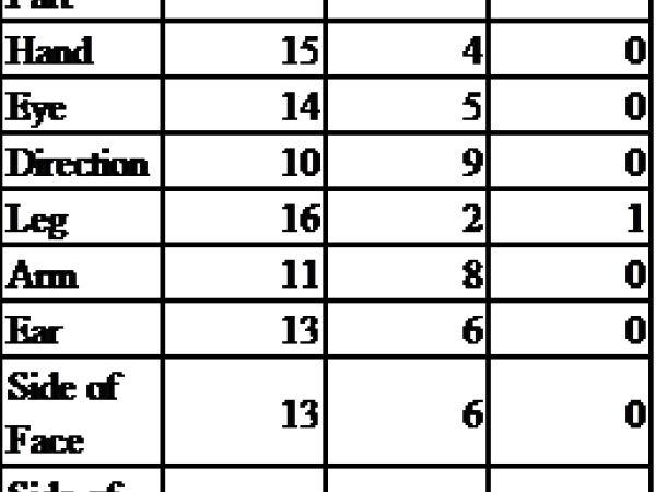 Handedness of 19 High School Students