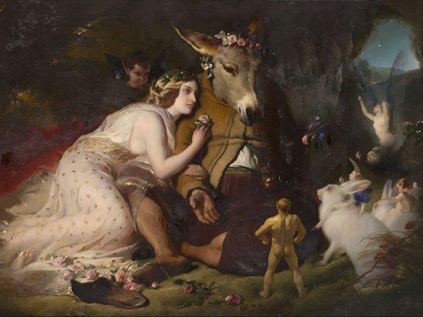 Edwin Landseer - Scene from A Midsummer Night's Dream. Titania and Bottom (1848)