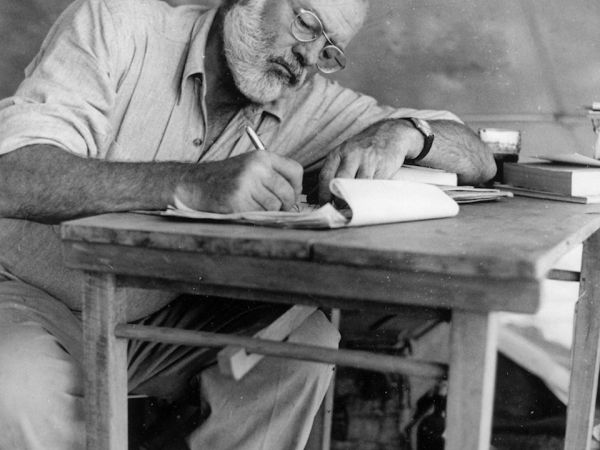 """Ernest Hemingway: """"Sometimes you make [the story] up as you go along and have no idea how it will come out."""""""