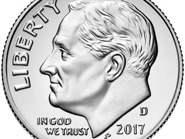 """Franklin D. Roosevelt on a U.S. dime. Stiglitz's economic ideas are a modern formulation of the ideas behind """"The New Deal."""""""