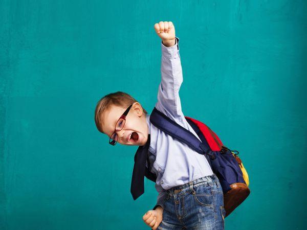 Motivated Happy Kid