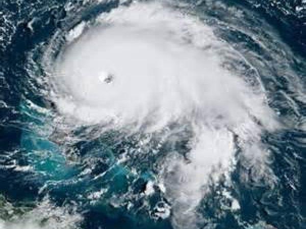 Hurricane Dorian barreling toward Florida and the east coast.