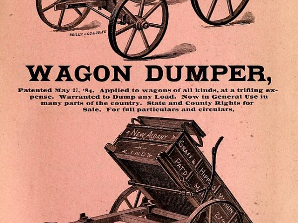 Graff and Hipple Wagon Dumper, c. 1884