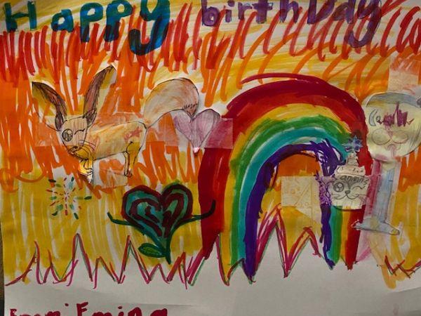 My daughter's art work for grandma's birthday