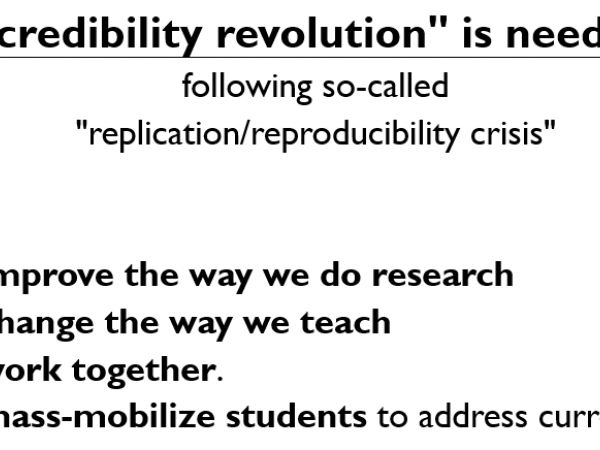 Credibility revolution: Core insights