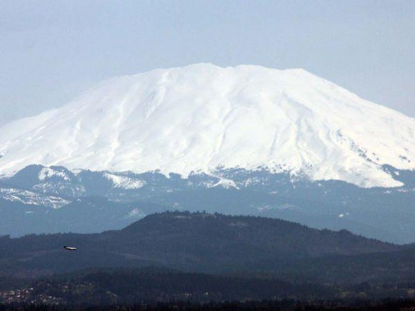 Mount St Helens, Washington viewed from Portland, Oregon.