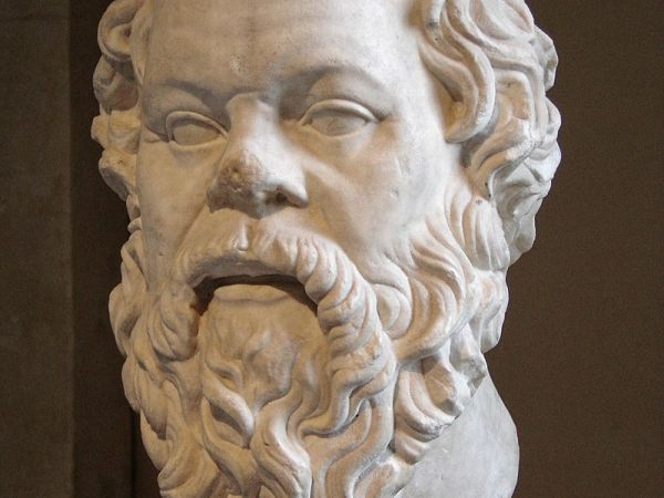 Bust of Socrates (470-399 BCE).