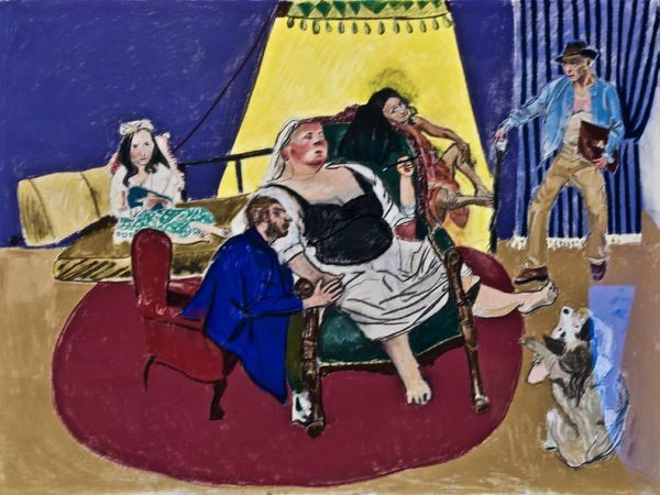 """Meeting Adelie"" by Paula Rego"