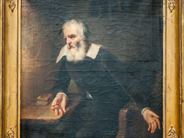 Galileo in Prison, by Romain Eugène Van Maldeghem. This painting is at Stedelijk Museum Sint-Niklaas in Belgium. Credit: Gerald