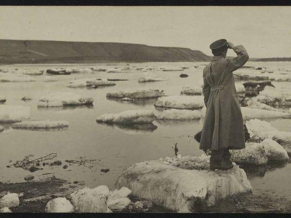 Soldier Saluting on Iceberg