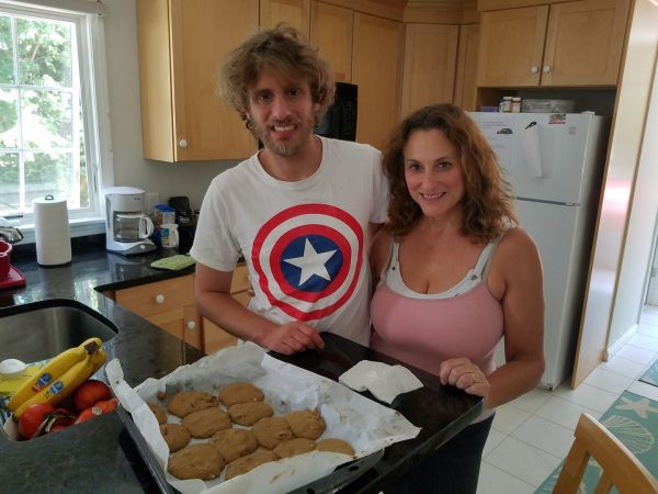 """Our first vacation bake, """"fig hermits."""""""