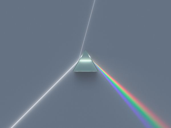 A dispersive equilateral prism, by Spigget