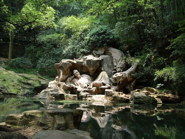 Statue in Hangzhou, China: 'Dreaming of the Tiger'