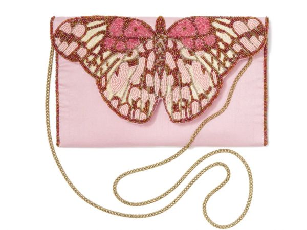 Which gift to choose?   Left—the St. Xavier: Butterfly Beaded Clutch.