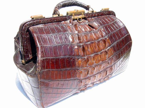 My Dad's Alligator Leather Doctor's Bag