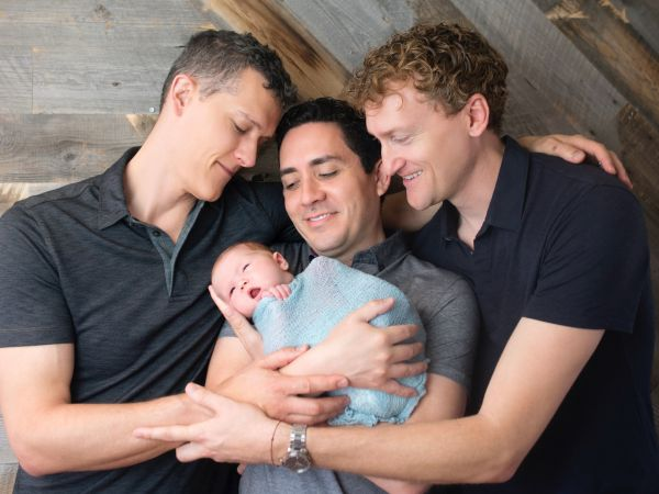The author with his partners and son