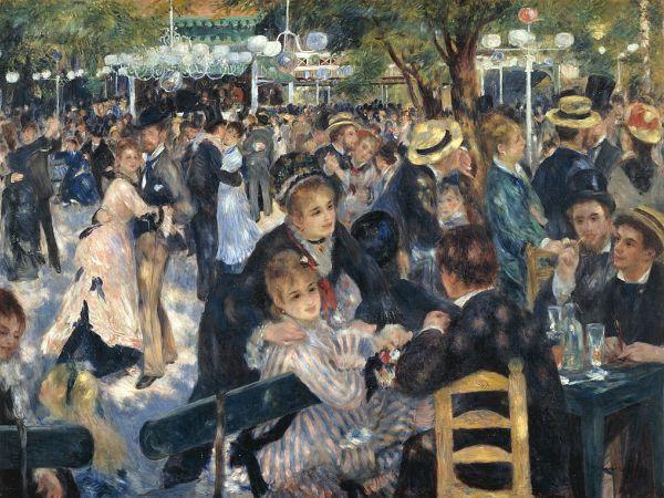 "Pierre Auguste Renoir, ""Bal du moulin de la Galette,"" 1876."