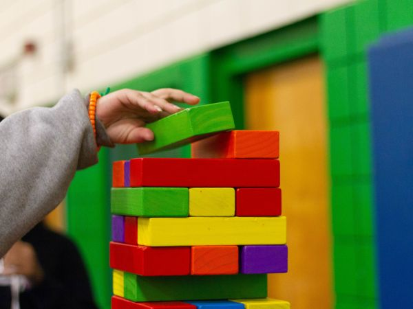 Blocks are for more than play. They teach early engineering skills.