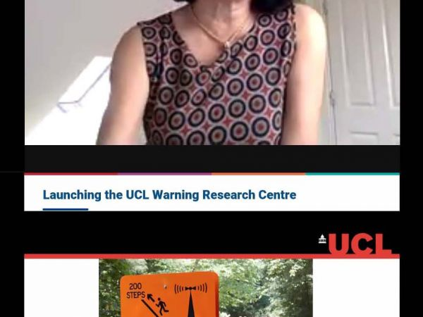 Mami Mizutori, the head of the UN Office for Disaster Risk Reduction (UNDRR), launches the UCL Warning Research Centre