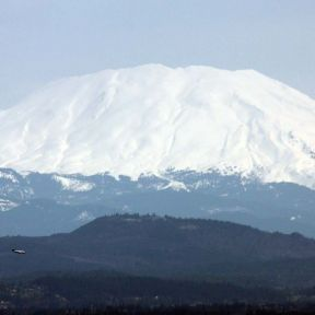 Mount St Helens, Washington viewed from Portland, Oregon.