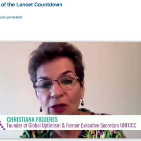 The 3 December online launch of the Lancet Countdown 2020 report.